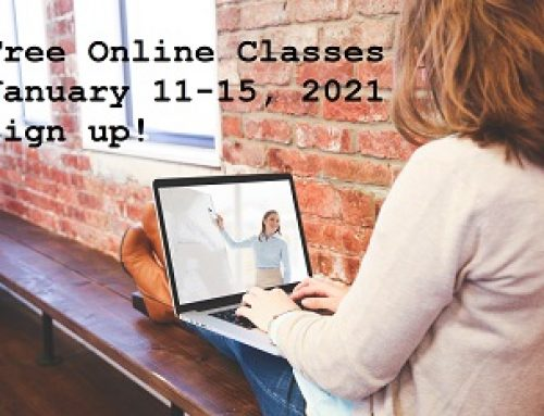 Free Online Classes – January 2021!